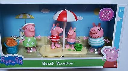 Amazon.com: Peppa Pig - Juego de figuras de familia de ...