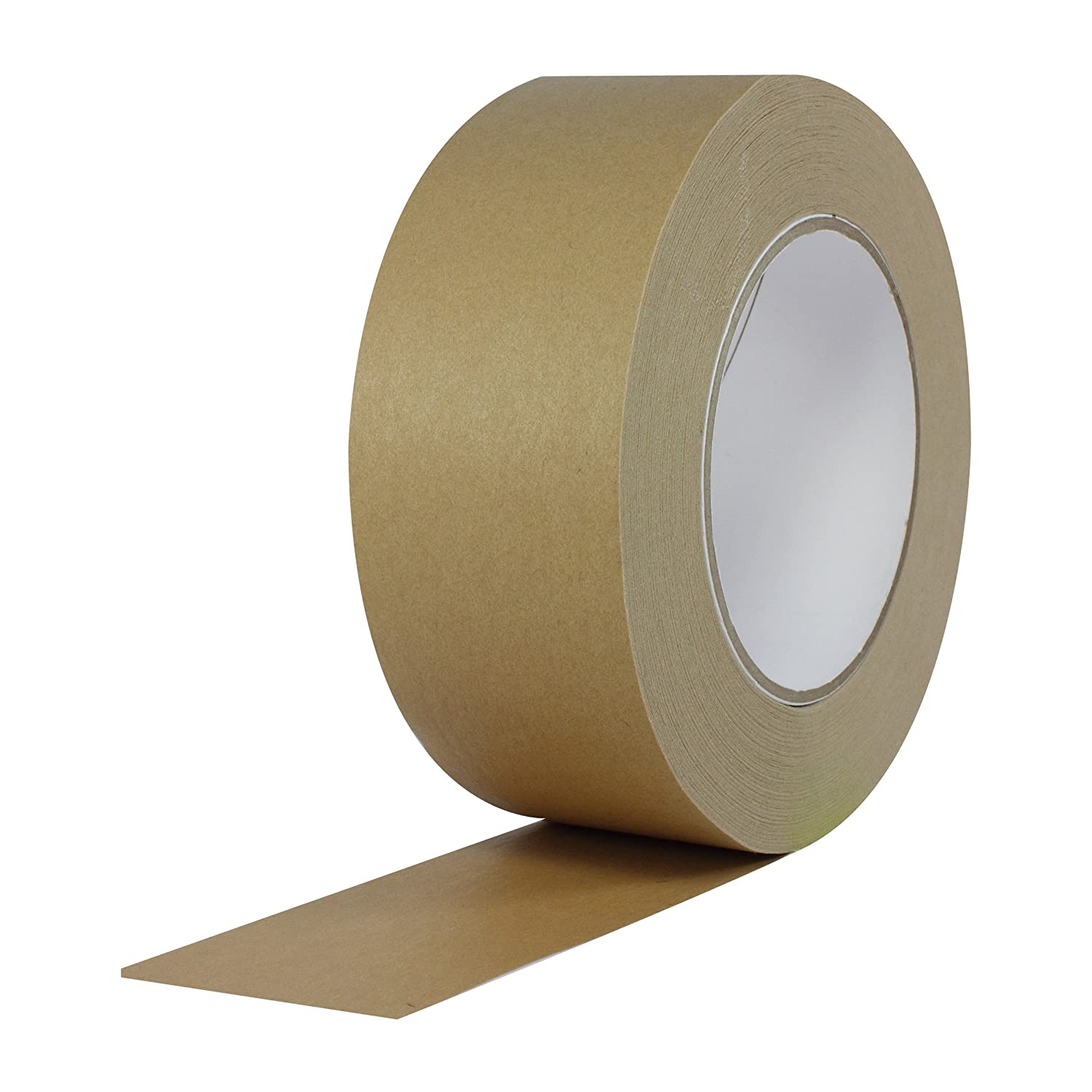 ProTapes Pro 183 Rubber Paper Carton Sealing Tape, 7.1 mils Thick, 55 yds Length x 2' Width, For Light-to-Medium Packaging, Light Brown (Pack of 1) 55 yds Length x 2 Width ProTapes & Specialties Pro-183-2x55-LBR