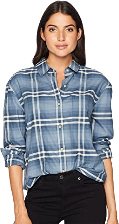 225544c851d02 Pendleton Womens Stevie Back Pleat Shirt at Amazon Women s Clothing ...