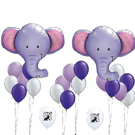 Superior Elephant Balloons, Baby Shower Decorations, Elephant Shower Decoration,  Nursery Decoration, Purple Grey