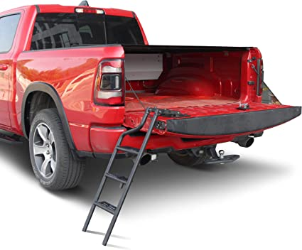 Tecoom Retractable Folding Bed Step for 2013-2018 Ram 1500 Aluminium Alloy Hitch Step Bumper Step