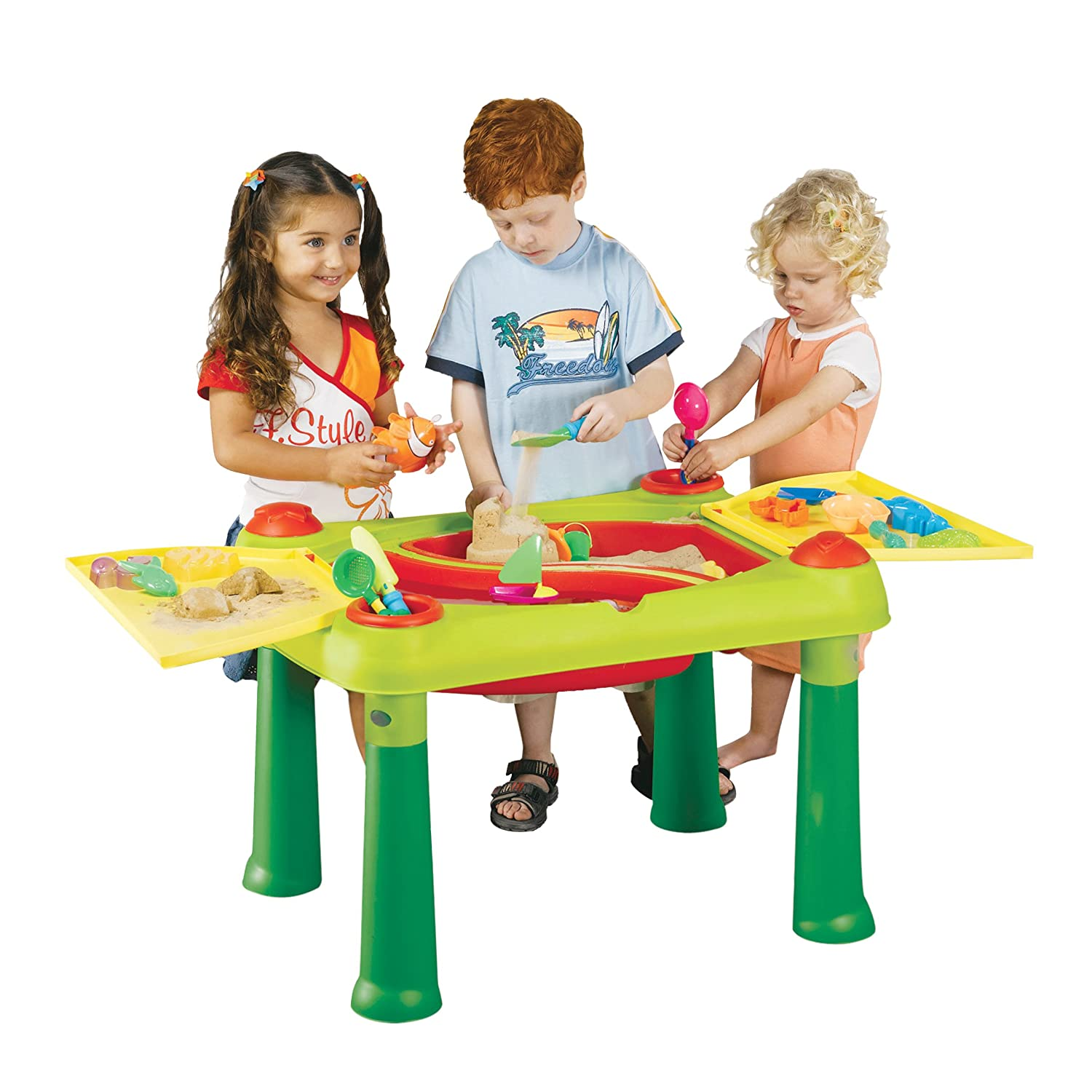 Keter IndoorOutdoor Childrens Sand and Water Play Table