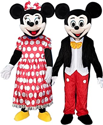 Mickey Mouse et Minnie Mouse 2 Mascotte Costumes EVA Fr