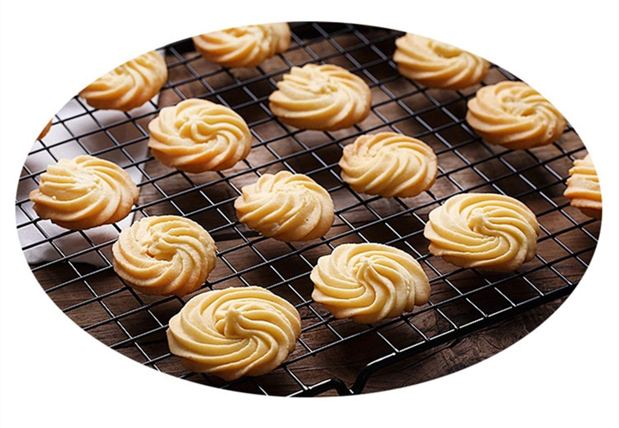 Mokpi Oven Safe Non-Stick Cooling Racks, Size 16''x10'',Thick Wire Baking Rack Heavy Duty Commercial Quality Rack (Set of 4) by Mokpi (Image #5)