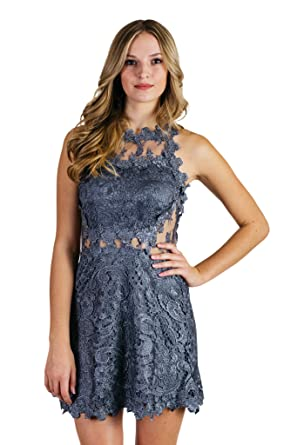 Soieblu Love Of My Lace Slate Blue Dress Large at Amazon Women's ...