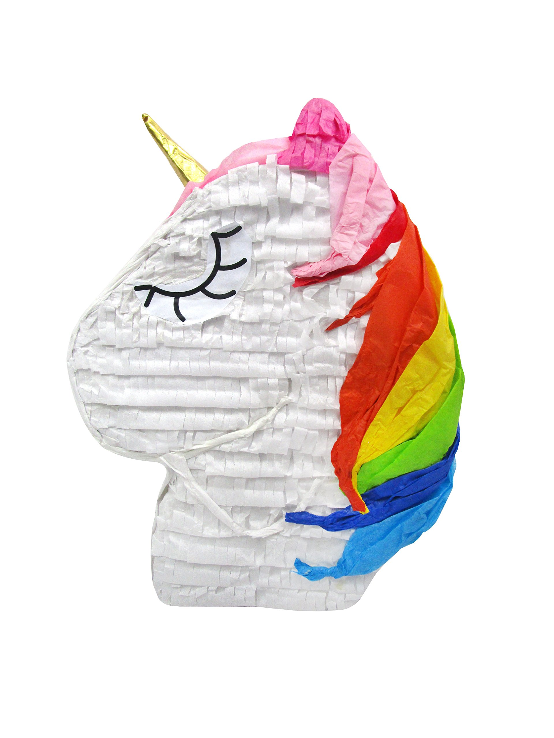 Sleepy Rainbow Unicorn Pinata - Party Game, Photo Prop, Birthday Centerpiece and Room Decoration by Pinatas