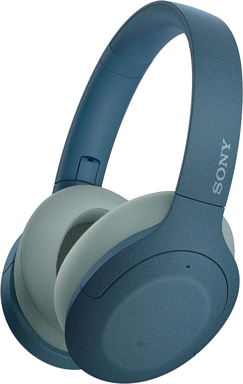 Sony WH-H910N - Auriculares inalámbricos (Bluetooth, Cancelación de Ruido, LDAC, hasta 35h de batería, Hi-Res Audio, h.Ear on, Sonido adaptativo, tecnología de Sensor de Ruido Dual, DSEE HX) Azul