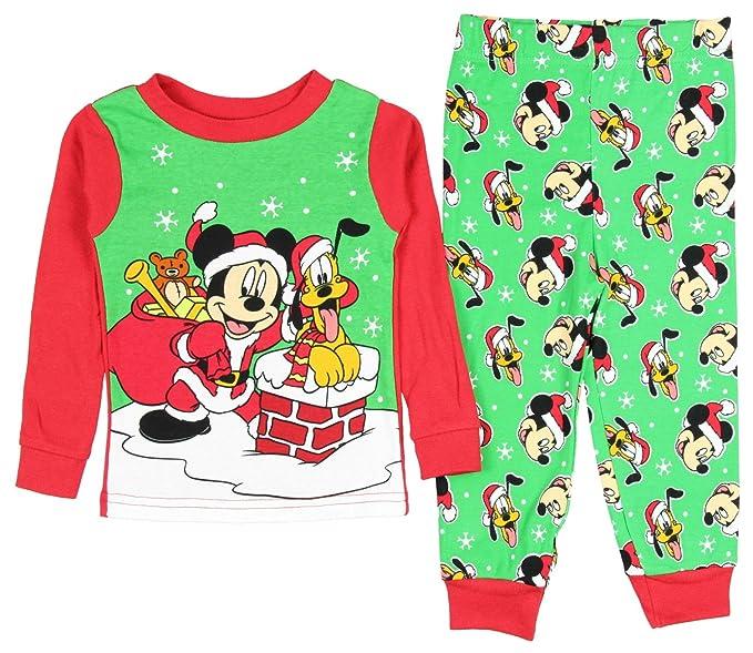 AME Sleepwear Disney Mickey Mouse Pluto Baby Boys Christmas Pajama Set  Tight Fit 327d32859