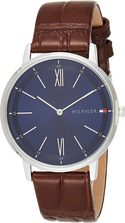 Tommy Hilfiger Reloj Analógico para Hombre de Cuarzo con Correa en Cuero 1791514
