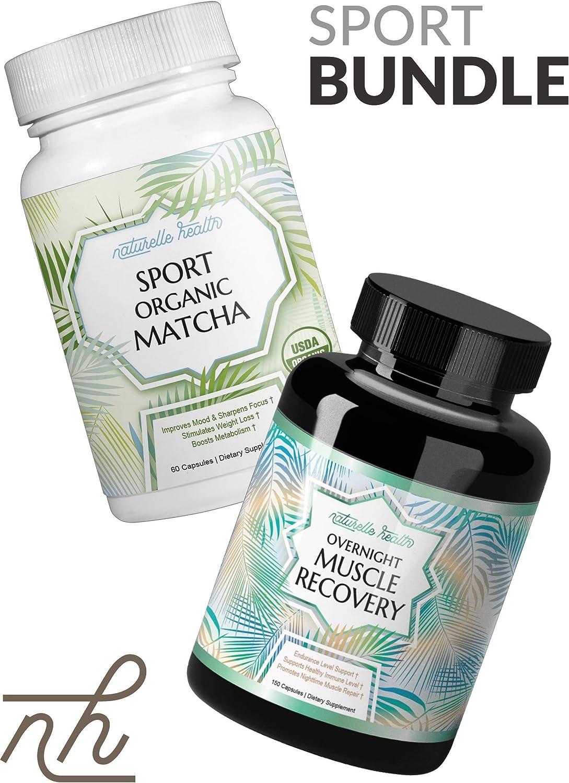 Naturelle Health Sport Matcha Overnight Muscle Repair Athlete s Bundle