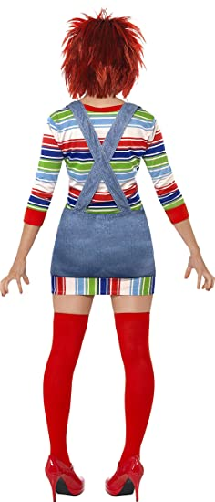 Amazon.com: Chucky Fancy Dress Costume Ladies (1970S, 1980S, Film, Halloween, Tv): Clothing