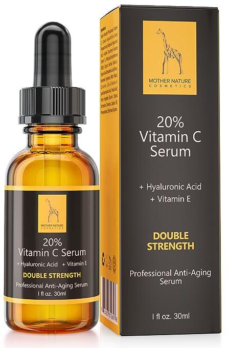 3 opinioni per Mother Nature®- Vitamin C Serum || Anti-Aging | 20% Vitamin C, Hyaluronic Acid &