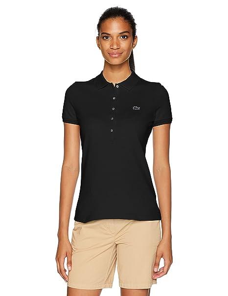 eff870f8 Lacoste Womens Women's Slim Fit Stretch Mini Cotton Pique Polo Polo Shirt