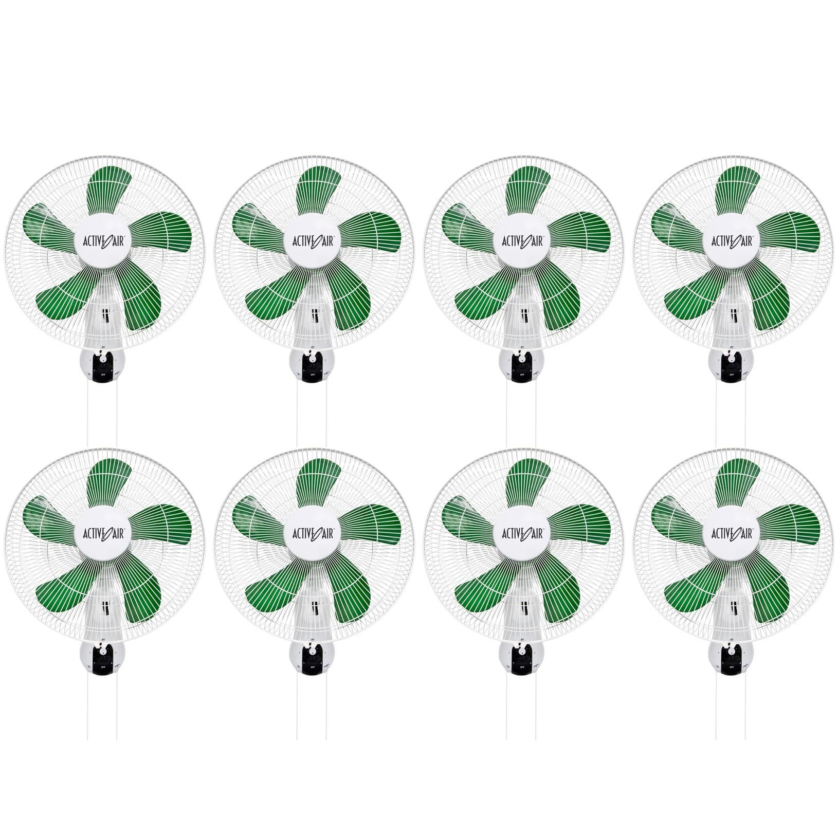 (8) HYDROFARM ACF16 Active Air 16'' Wall Mountable Oscillating Hydroponic Fans by Active Air