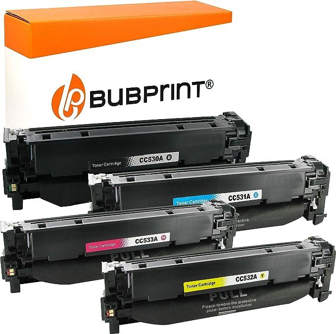 Bubprint 4 Toner Kompatibel Für Hp 304a Cc530a Cc531a Cc532a Cc533a Für Color Laserjet Cm2320fxi Cm2320nf Cm2320n Mfp Cp2020 Cp2025 Cp2025n Cp2025dn Bürobedarf Schreibwaren