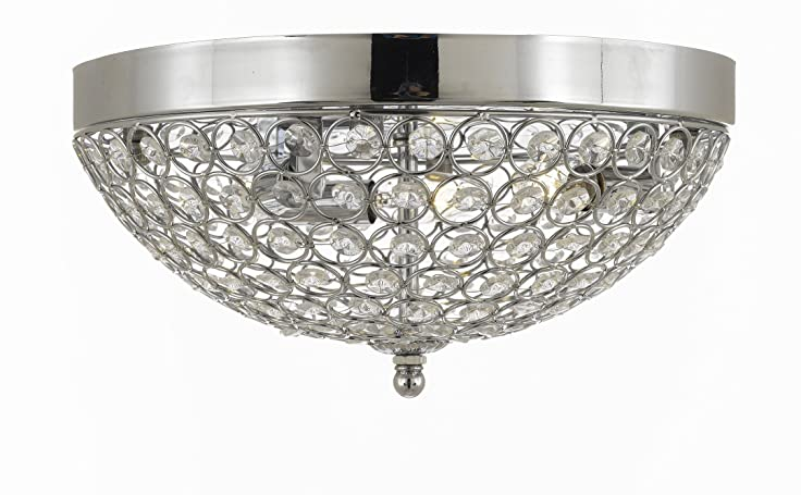 Flush Mount 3 Lights French Empire Crystal Chandelier Chandeliers Lighting Silver Ht 6 X