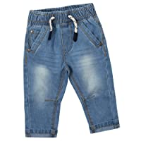 Baby Boys Jeans Pants Trousers Toddler Denim Style Elastic 3-24 Months Babytown