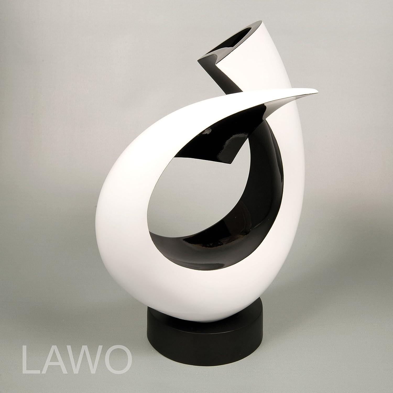 Lawo 109373 Laque Design Sculpture Linus Noir Blanc Moderne Deco