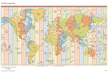 Walls and Murals Vinyl Non Tearable, Washable, Long Life Time Zone Office,  School and Educational Purposes World Map Wallpaper (66 X 99 cm, ...