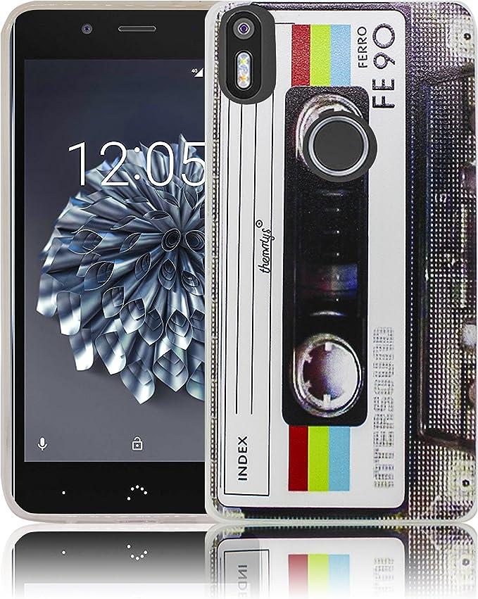 bq Aquaris X5 Plus Cassette Casete Retro Funda de Silicona ...