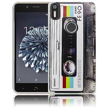 bq Aquaris X5 Plus Cassette Casete Retro Funda de Silicona Protectora Funda de Silicona Funda de Silicona Funda de Silicona Funda de Silicona Estuche ...