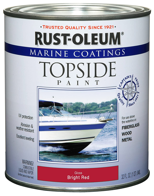 Rust-Oleum 206999 Marine Topside Paint, Gloss White, 1-Quart - House ...