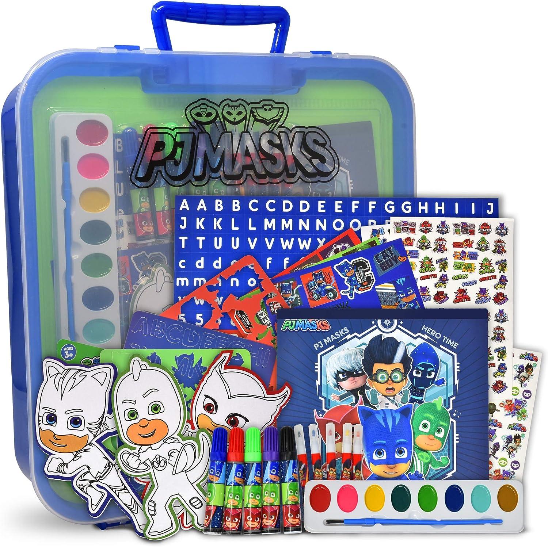 PJ Máscaras para colorear y actividad, incluye marcadores, pegatinas, kit de colores para manualidades sin desorden, para niños y niños