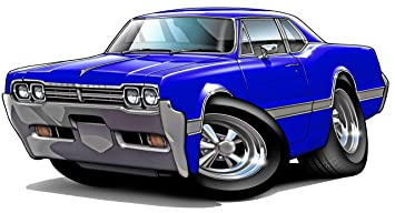 1968 Cutlass 442 Coupe vintage car decal sticker wall mural
