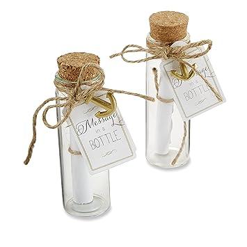 Amazon Kate Aspen Message In A Bottle Glass Favor Bottle