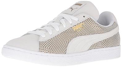 PUMA Women s Suede Gold WN s Fashion Sneaker White d305c97d1