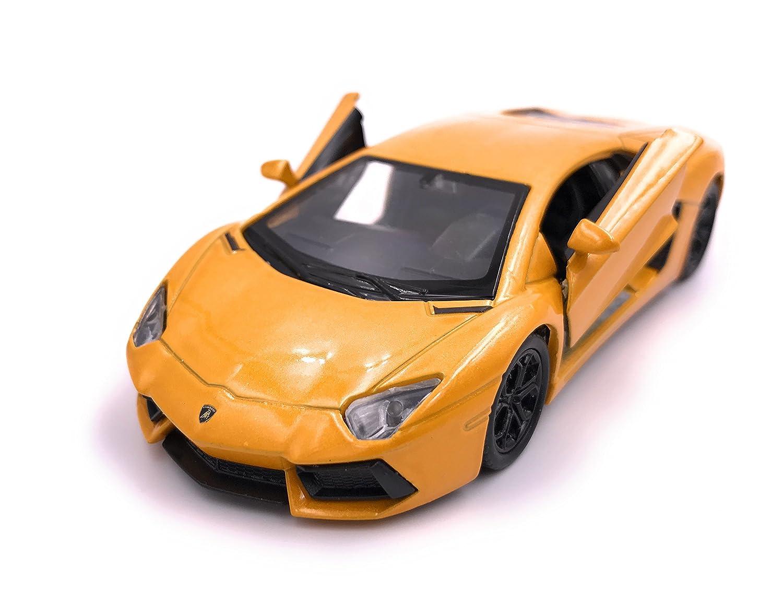 Welly Lamborghini Aventador LP 700 modè le de voiture de voiture licence produit 1: 34-1: 39 jaune