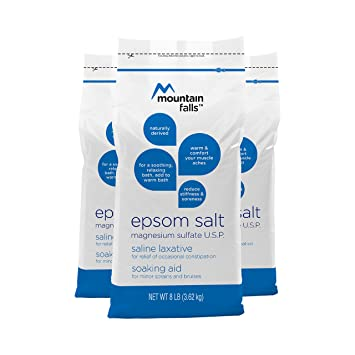 Mountain Falls Epsom Salt Magnesium Sulfate, 8 Pound (Pack of 3)