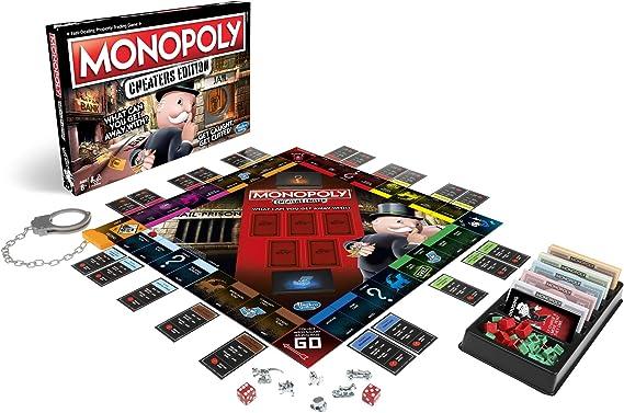 Hasbro Gaming monopolio de juego: Cheaters Edition para niños de 8 años en adelante, color negro, talla única (E1871102) , color/modelo surtido: Amazon.es: Juguetes y juegos