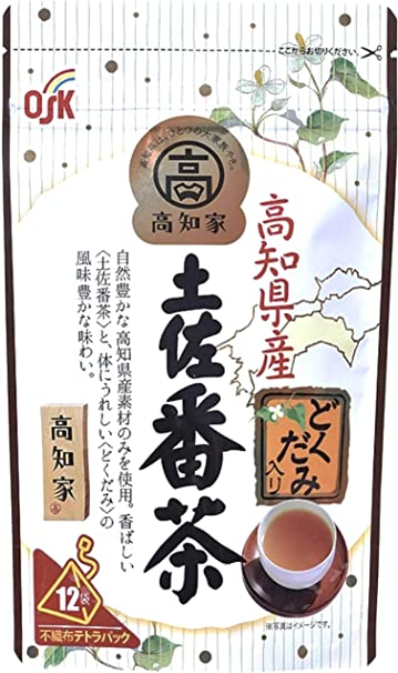 OSK高知県産どくだみ入り土佐番茶テトラパック(1.7g×12袋) ×4個 ティーバッグ