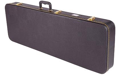 Kinsman - Estuche rígido para guitarras eléctricas (rectangular, tamaño estándar)