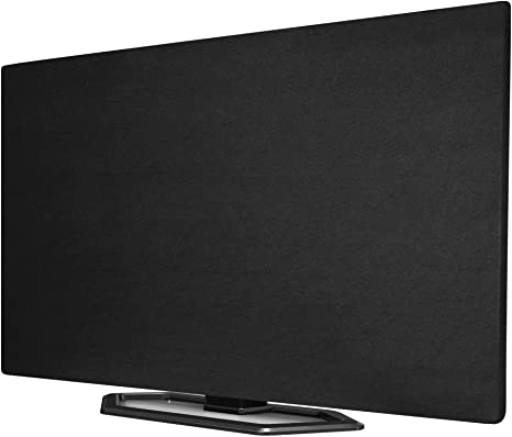 Smart TVs Kuzy Black 65 inch TV Cover Made in USA Indoor Screen Protector for Flat Screen TV Clean Dust Cover Enclosure for Flatscreen Television Cloth Fabric Cover Size 59 x 40 inch