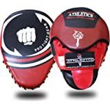Athletics Gear Focus Pads Hook & Jab Mitts Kick Boxing MMA Strike Punch Bag Kick Curved
