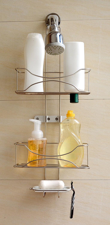 Amazon.com: Bathsense 3 Tier Winthrop Showerhead Hook Shower Caddy ...