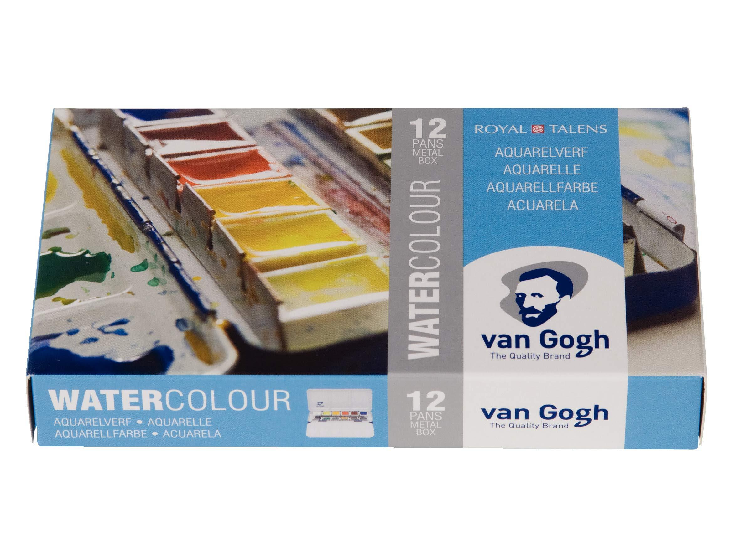 Van Gogh Watercolor Paint Set Metal Tin 12 Half Pan Buy Online