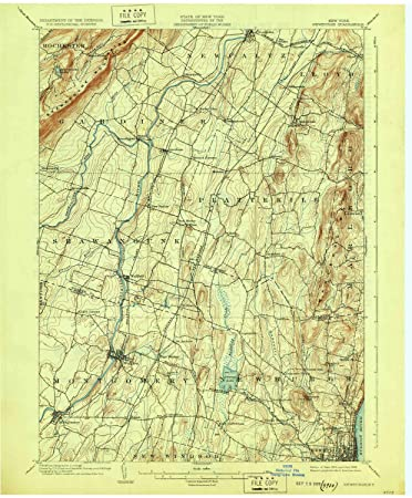 Newburgh New York Map.Amazon Com Yellowmaps Newburgh Ny Topo Map 1 62500 Scale 15 X 15