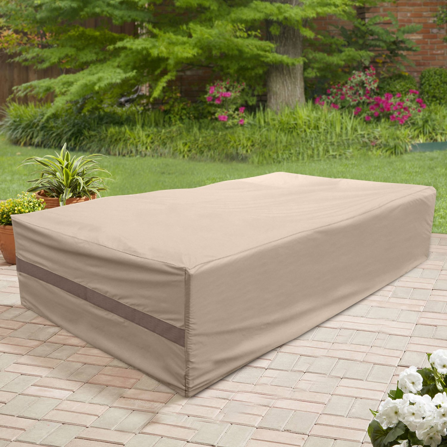 Classic Accessories 55-781-041501-00 Veranda Outdoor Patio Cover, Large, Pebble
