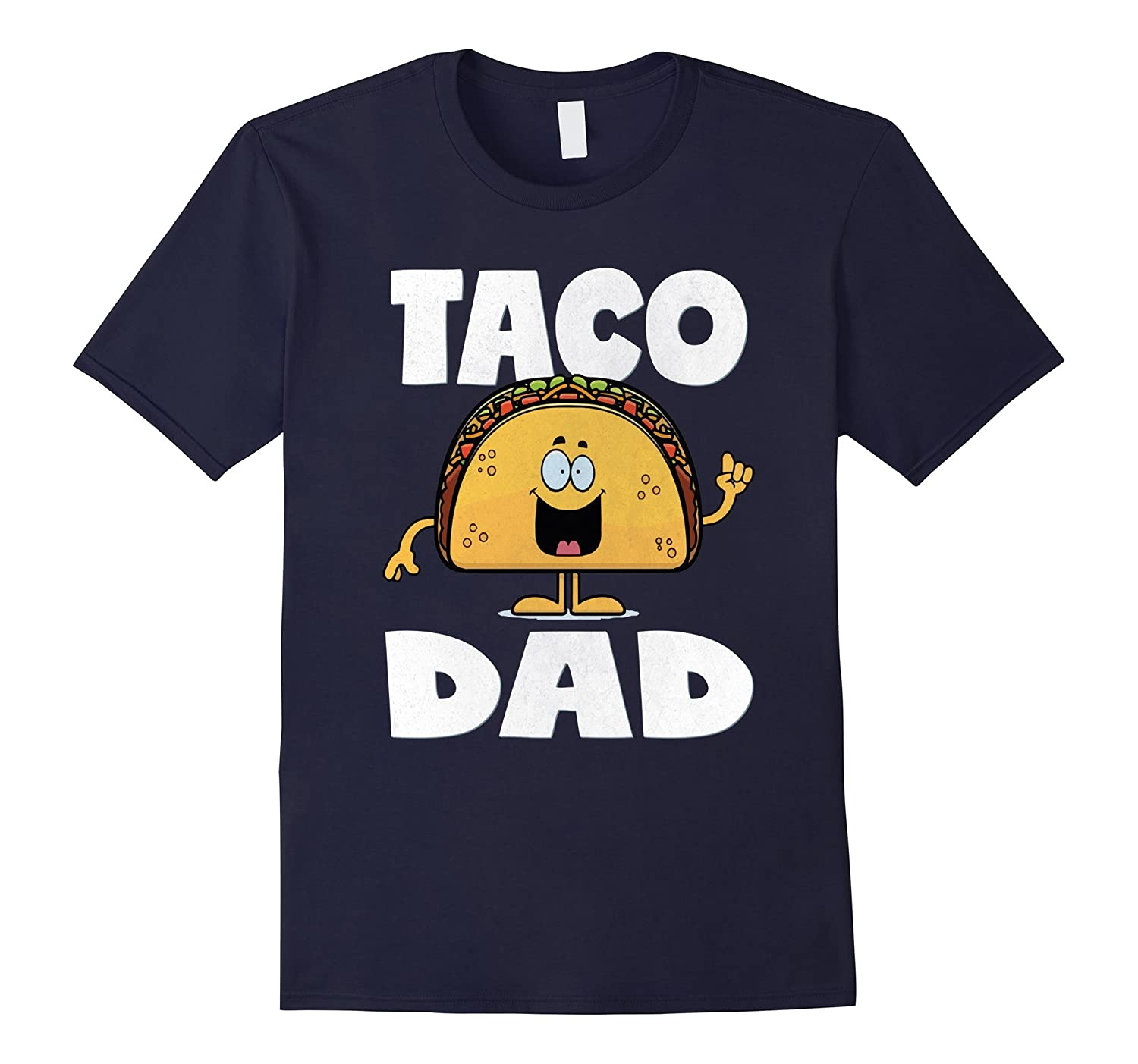 Taco Dad Funny Vintage Father Mexican Tacos Love T-Shirt-TH
