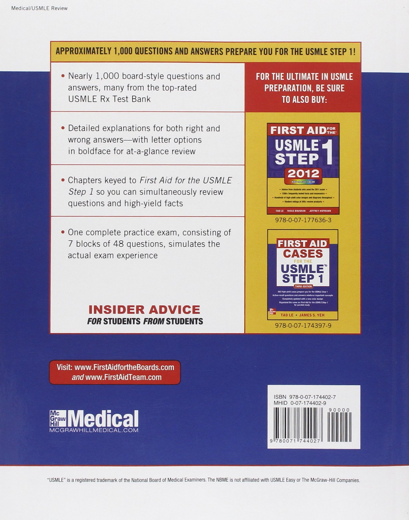First Aid Q&A for the USMLE Step 1, Third Edition: Amazon co