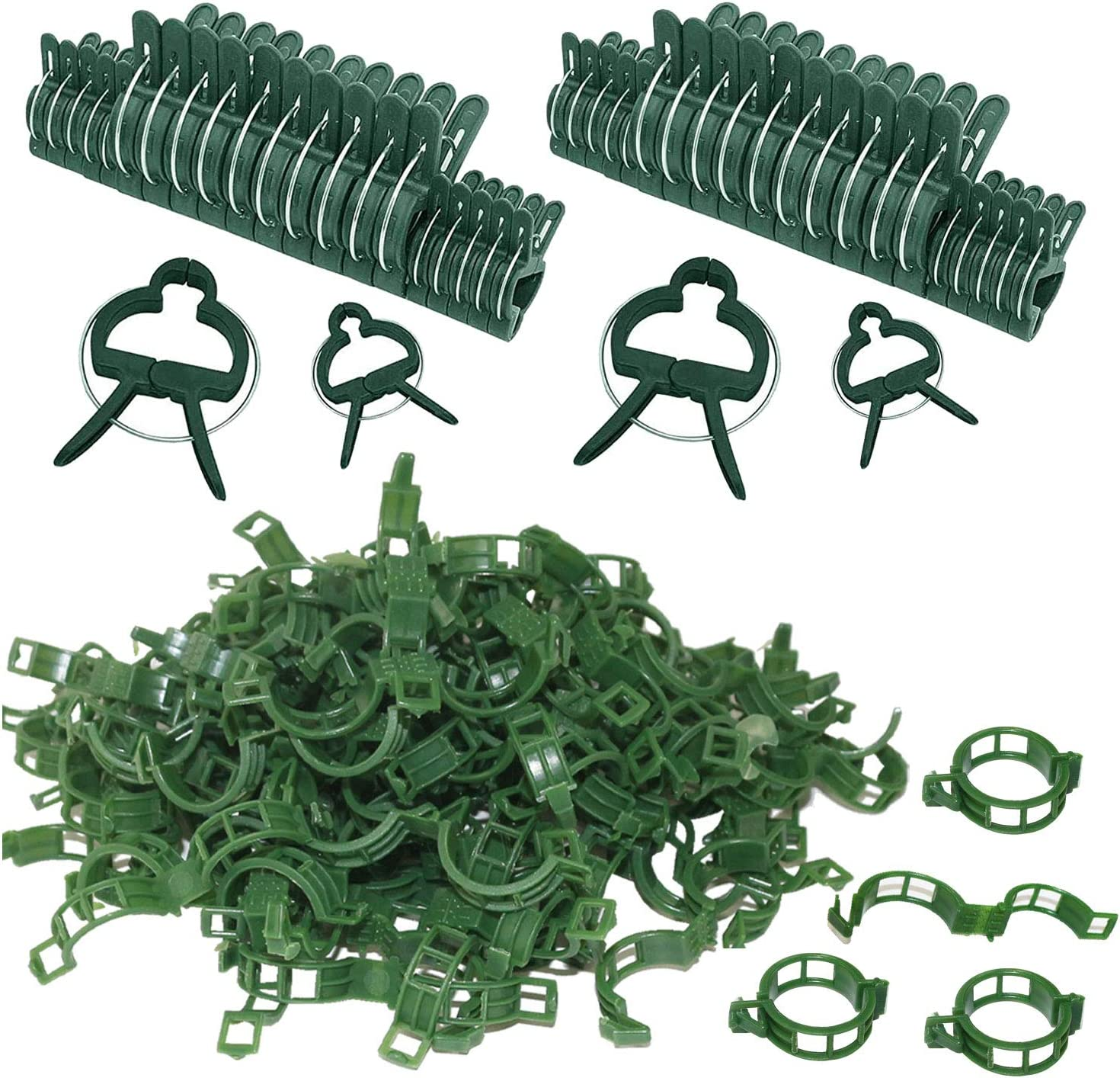 Stalks to Grow Upright. Vines 60PCS Large Plant Clips Garden Flower Support Clips for Supporting Stems