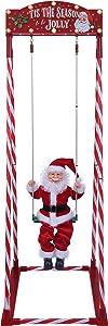 Mr. Christmas 68081 Swinging Santa Holiday Decoration, One Size, Multi