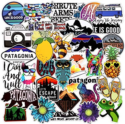 Cool Stickers for Skateboard,Vinyl Water Bottle Laptop Computer Phone Notebook