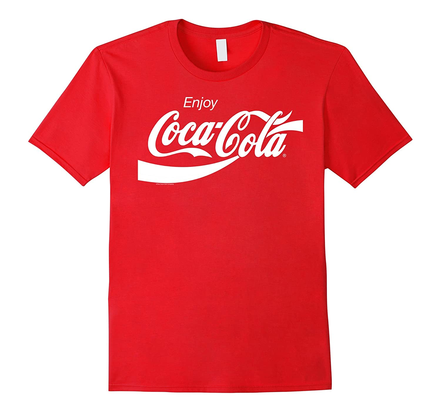 Coca-Cola Retro White Enjoy Logo Graphic T-Shirt-T-Shirt
