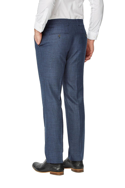 next Hombre Pantalones De Traje Corte Entallado Texturizado ...