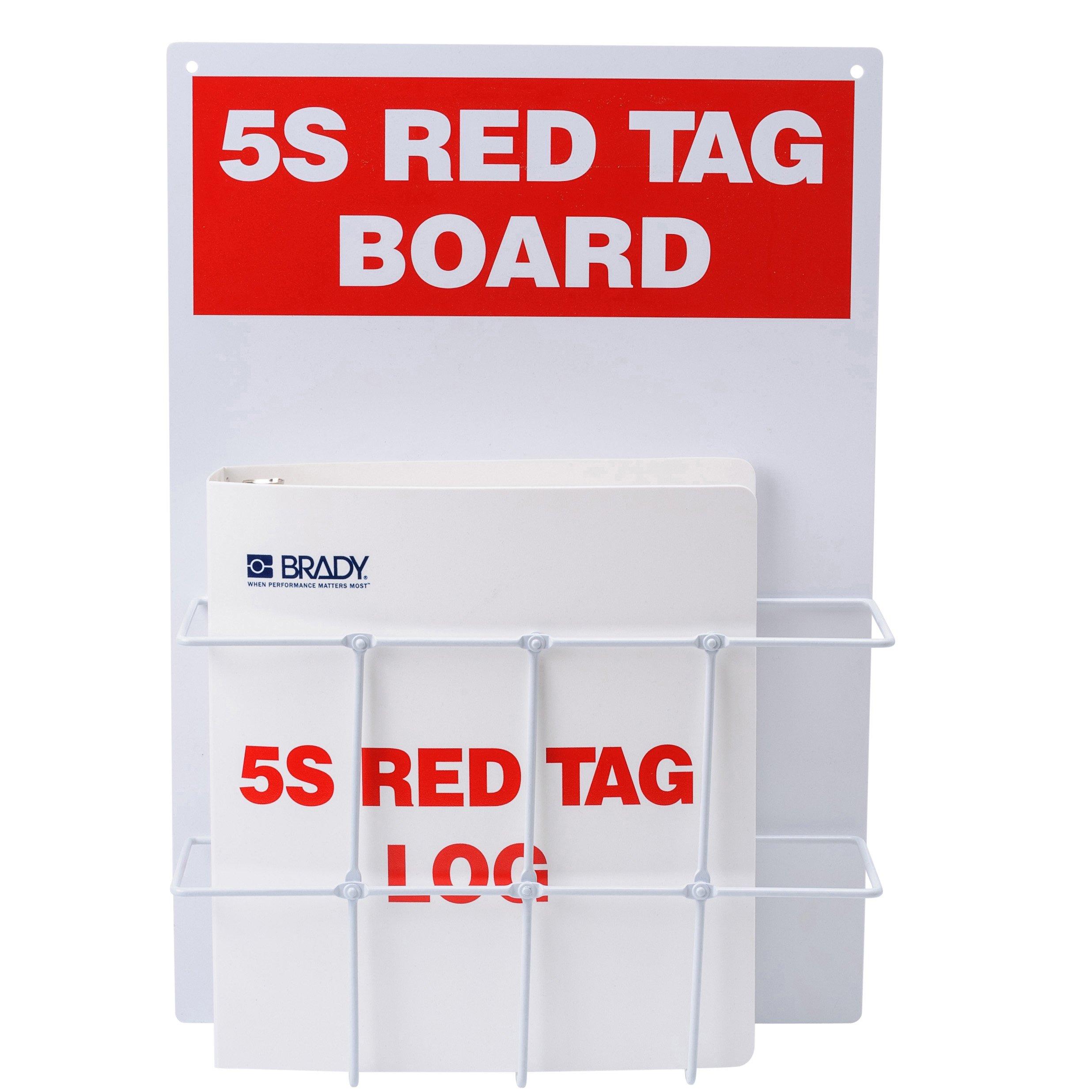 Brady 122053, 5S Red Tag Log Kit (1 Kit)