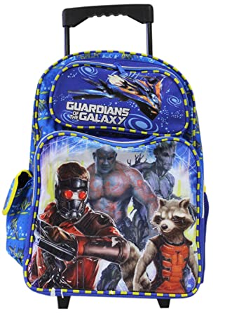 Amazon.com: Full Size Blue and Yellow Guardians of the Galaxy Rolling Backpack: Sports & Outdoors
